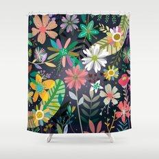 Funky garden Shower Curtain