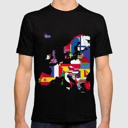 Europe flags T-shirt