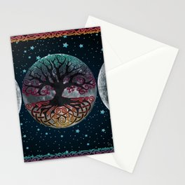 Autumn Esoteric Triple Moon V2 Stationery Cards