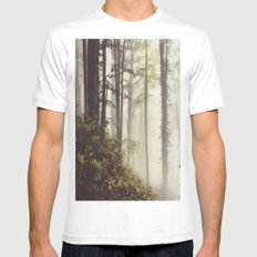 misty forest Mens Fitted Tee White MEDIUM