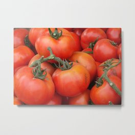 Bright Red Garden Tomatoes Metal Print