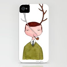 One real antler, one imagined iPhone (4, 4s) Slim Case