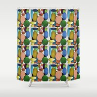 balloons Shower Curtains featuring Balloons by lillianhibiscus