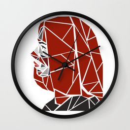 Natasha Romanoff Polygonal Design Wall Clock