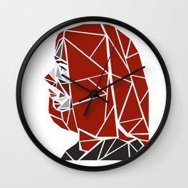 Natasha Romanoff Polygonal Design Wall Clock