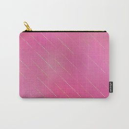Pretty Pink Gold Dot Pattern Carry-All Pouch