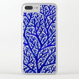 Fan Coral – Navy Clear iPhone Case
