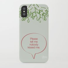 Under the mistletoe iPhone X Slim Case