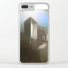 Castle Tirol in Fog Clear iPhone Case