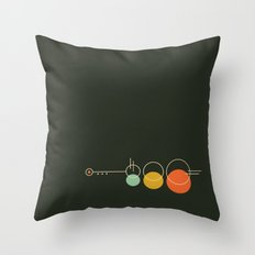 Mid Geo 02 // Mid Century Modern Minimalist Illustration Throw Pillow
