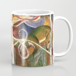 "Franz Marc ""Deer in the Forest I"" Coffee Mug"