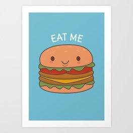 Kawaii Cute Burger Art Print