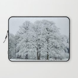 Frozen and Frosted Trees Laptop Sleeve