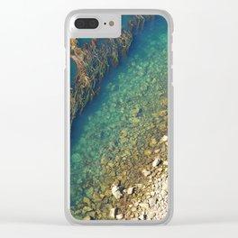 Beach pattern Clear iPhone Case