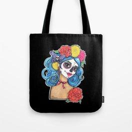 Dia de los Muertos: Sugar Skull Girl Tote Bag
