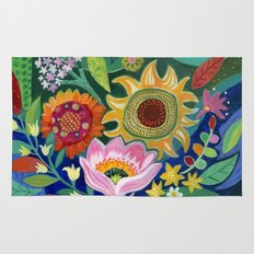 Late Summer Blooms Rug