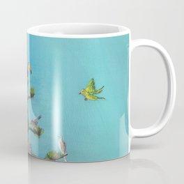 agave tree of life with birds Coffee Mug
