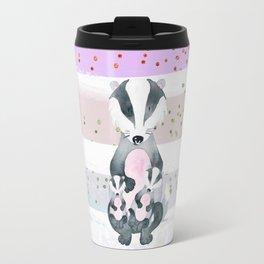 Pastel Color Tones Bea Badger by Bagaceous Travel Mug