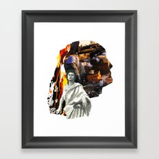She Doesn't Look Back,  Knows He's Broken Framed Art Print