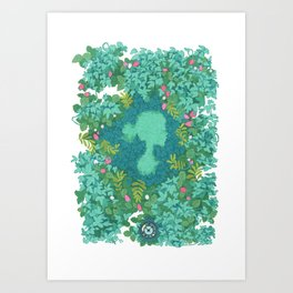 Little garden Art Print