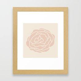 Rose Vintage Pink on Petal Cream Framed Art Print