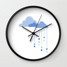 Blue clouds Wall Clock