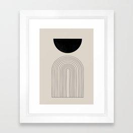 Arch, geometric modern art Framed Art Print