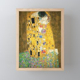 Gustav Klimt The Kiss Framed Mini Art Print