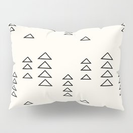 Minimalist Triangle Line Drawing Pillow Sham