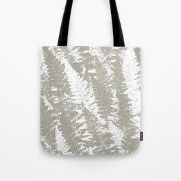 Gray Ferns Photo Art Print Pattern Tote Bag