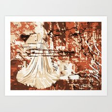 Abschied Art Print