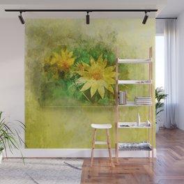 Yellow Daisy Watercolor Wall Mural