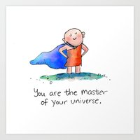 Master of Your Universe Art Print