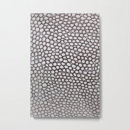 Black circles Metal Print