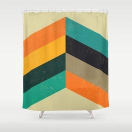 Mid Century Chevron Art Shower Curtain