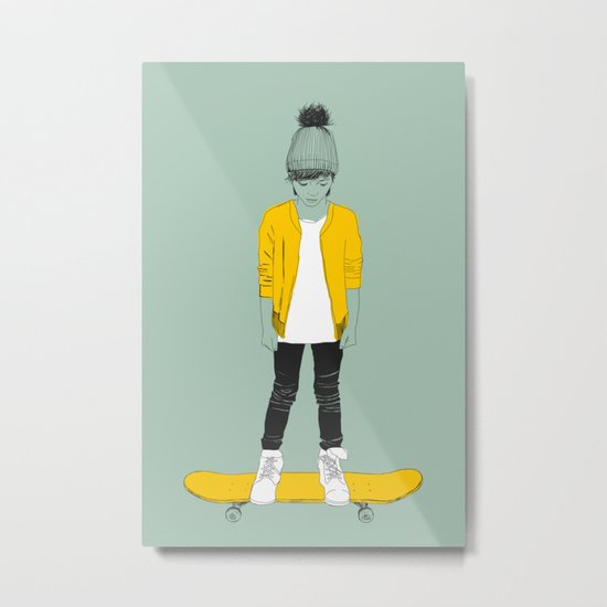 Skater Kid Metal Print