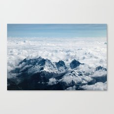 High Mountains #clouds Canvas Print