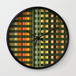Pattern rectangle color multi I Wall Clock