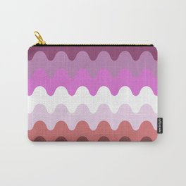 Wavy Lesbian Flag. Carry-All Pouch
