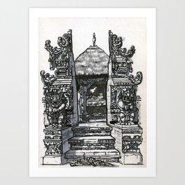 Bali : Market Temple Art Print