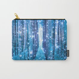 Magical Forest  Light Blue Turquoise Carry-All Pouch
