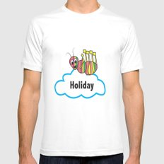 Ant and holiday Mens Fitted Tee White MEDIUM