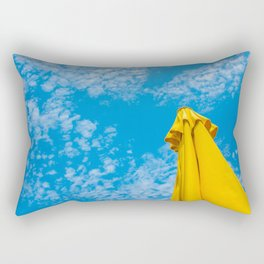 {Italy} - Blue and Yellow - Palermo Rectangular Pillow