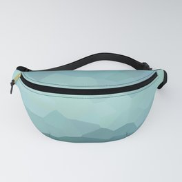 Abstract blue dim landscape Fanny Pack