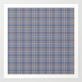 Blueberry checked pattern Art Print