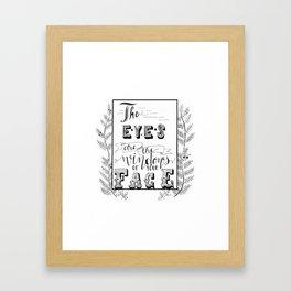 I Put Googly Eyes On All My Plants Framed Art Print