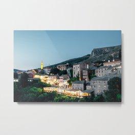 Night of Mostar old town Metal Print