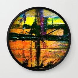 Easel Abstract 11 Wall Clock
