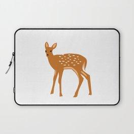 Baby Deer and Snow Laptop Sleeve