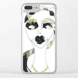 I dont care Clear iPhone Case
